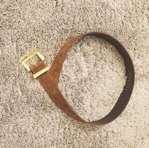 Express brown leather belt, medium